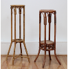 Distressed Wicker Plant Stands