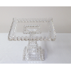 Square Cut Glass Cake Stand