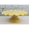 Yellow Ceramic Cake Stand