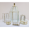 Gold and Glass Boxes/Terrariums