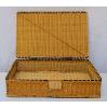 Flat Wicker Suitcase Basket