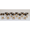 Black and Gold Goblets with Coin Pattern