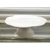 White Ceramic Cake Stand - Scalloped Edge