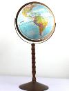 Standing Blue Globe