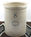 Antique Eight-Gallon Stoneware Crock