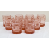 Short Pink Crystal Tumblers