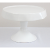 White Stoneware Cake Stand From Portugal