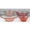 Pink Glass Serving Bowls