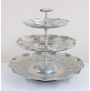 3-Tiered Hammered Aluminum Cake Stand