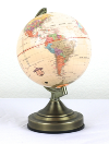 Illuminated Tan Globe