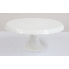 Milk Glass Cake Stand With Grapevine Pattern