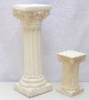 White Plaster Columns/Stands