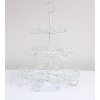 3 Tiered White Wire Cupcake Stand