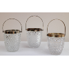 Vintage Cut Glass Ice Caddies