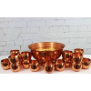 Copper Punchbowls and 30 Copper Mugs