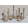 Assorted Silver Candleholders