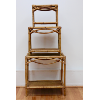 Set of Wicker Stacking Tables
