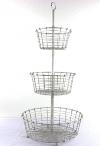 Three-Tier Wire Basket Stand