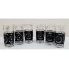 Black Tumblers With Coin Pattern