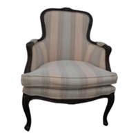 Striped Armchair