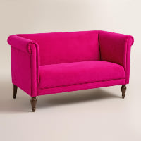Fuschia Loveseat