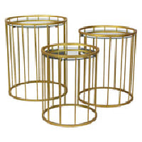 Gold Nesting Tables (set of 3)