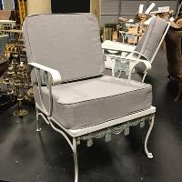 Vintage Metal Framed Deco Armchair
