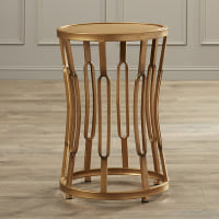 Gold Hourglass Side table