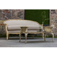 French Country Linen Sofa
