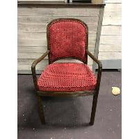 Velvet Curtain Side Chair