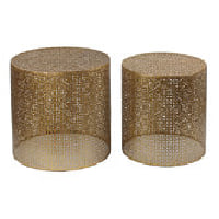 Gold medallion nesting tables