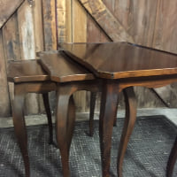 Italian Wooden Nesting Tables