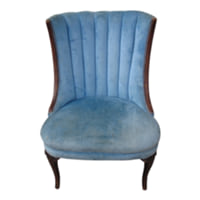 Blue Velvet Slipper Chair