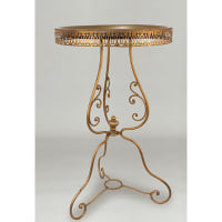 Filigree Gold Side Table