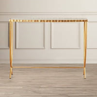 Gold Stem Console Table