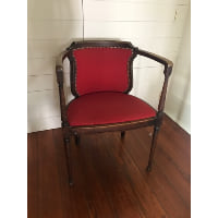 Deco Red Armchair