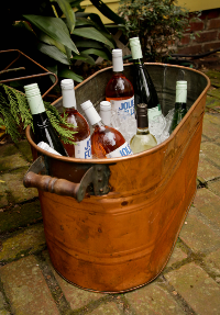Copper Beverage Bin