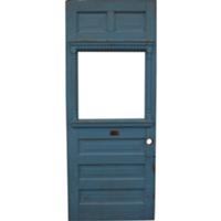 Blue Carved Door