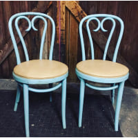 Blue Bentwood Chairs