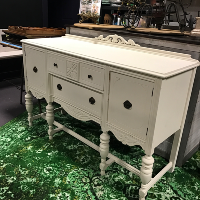Ornate White Buffet