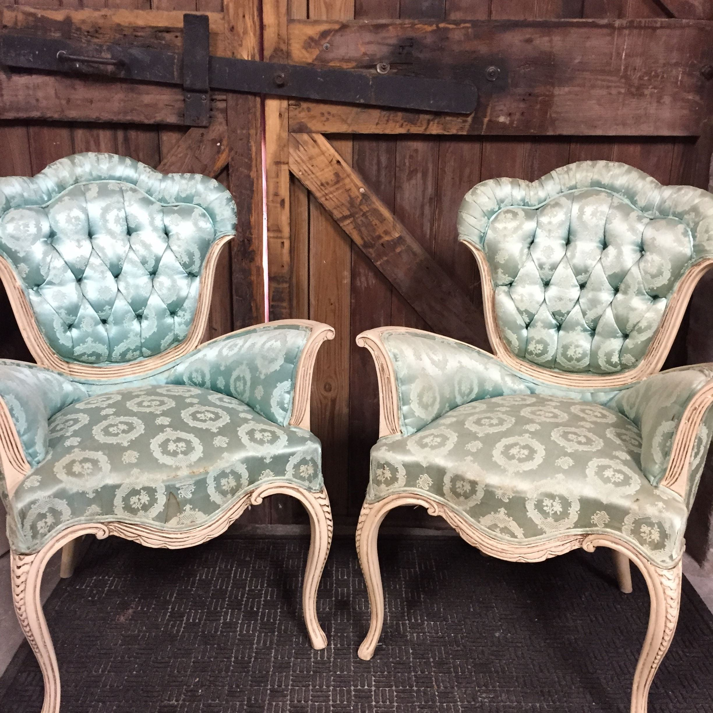 Whimsical Blue Side Chair