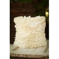 Cream Ruffle Pillow
