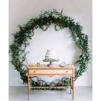 Wreath Backdrop