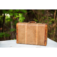 Small Striped Suitcase