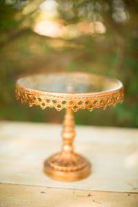 Medium Antique Gold Stand