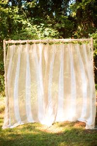 Striped Linen Panel