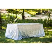 Rectangle Silver Sequin Tablecloth