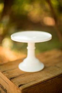 Small White Milkglass Stand