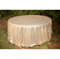 Round Gold Sequin Tablecloth