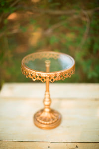 Small Antique Gold Stand
